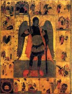 Икона святого Архистратига Божия Михаила XVI в. Из Троицкого собора.