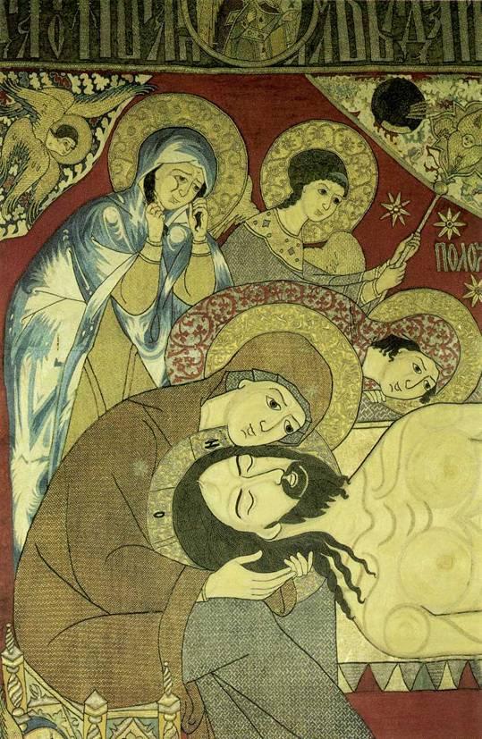 Мастерская Старицких. Плащаница. 1561 год. Фрагмент